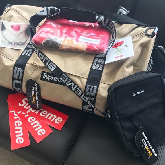 9551cb29 Supreme Bags | Ss18 Tan Duffel Brand New | Poshmark